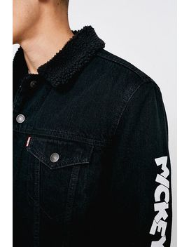 Levi's Mickey Mouse Black Denim Jacket by Levi's