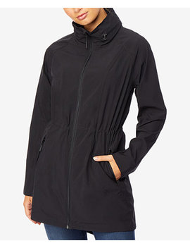 Hooded Cinched Waist Anorak Raincoat by 32 Degrees