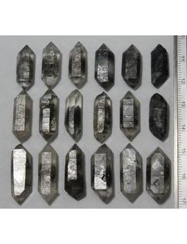 18 Pcs Black Phantom Quartz   Skeletal, Elestial, Crystal, Double End   Northwest Tibet by Etsy