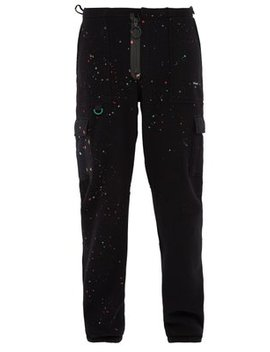Paint Splatter Fleece Track Pants by Off White