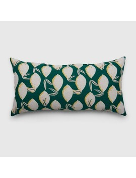 Oversize Lumbar Lemons Outdoor Pillow Jade   Opalhouse™ by Opalhouse