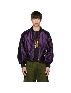 Ssense Exclusive Purple Bomber Jacket by Palomo Spain