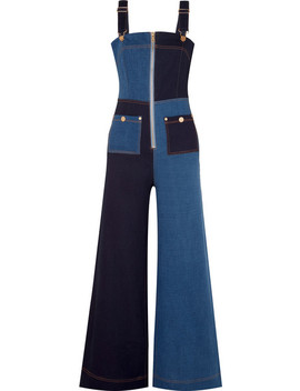 Quincy Patchwork Denim Overalls by Alice Mc Call