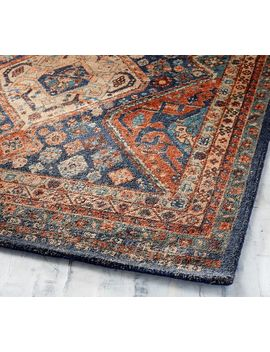 Mahalia Printed Rug   Blue Multi by Pottery Barn