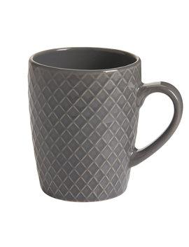 Wilko Mug Dark Grey Chequer Wilko Mug Dark Grey Chequer by Wilko