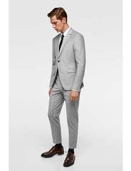 Plaid Suit Jacket  All Timeman Corner Shops Sale by Zara
