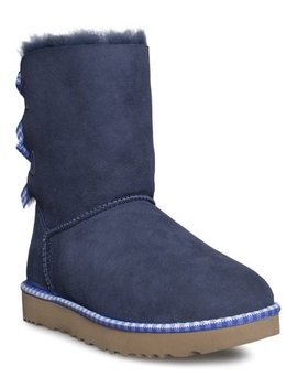 Navy Bailey Bow Gingham Suede Boot   Women by Ugg®