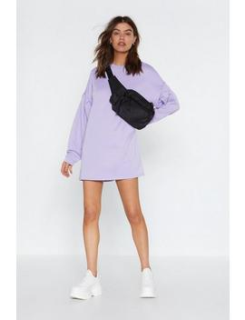 Don't Sweat It Sweatshirt Dress by Nasty Gal