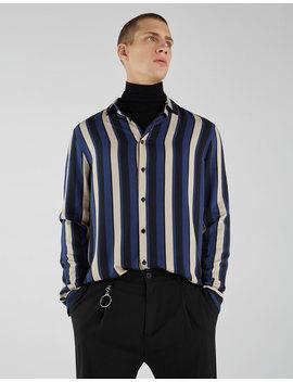 Camisa Com Efeito De Cetim às Riscas by Bershka