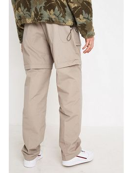 Urban Renewal Vintage Tobacco Zip Off Leg Cargo Trousers by Urban Renewal