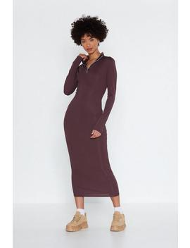 Heart Zips A Beat Midi Dress by Nasty Gal