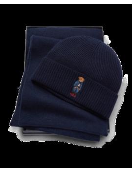 Jean Jacket Bear Hat & Scarf by Ralph Lauren