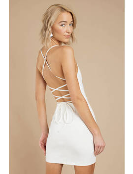 Can't Stop White Bodycon Dress by Tobi