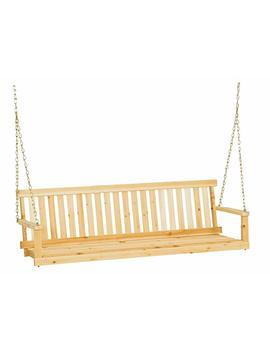Jack Post Jennings Traditional 5 Foot Swing Seat With Chains In Unfinished Cypress by Jack Post