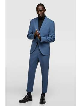 Blue Suit Pants  Collection All Time Man Corner Shops Sale by Zara