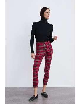 Legging Estampado Cuadros  Leggings Pantalones Mujer New Collection by Zara