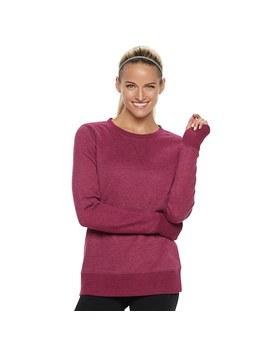 Women's Tek Gear® Ultrasoft Fleece Crewneck Thumb Hole Sweatshirt by Tek Gear