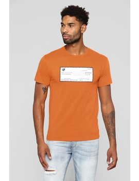 Get Paid Short Sleeve Tee   Orange by Fashion Nova