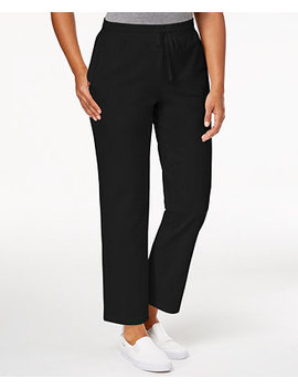 Drawstring Straight Leg Pants, Created For Macy's by Karen Scott