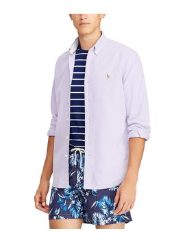 Big & Tall Solid Oxford Long Sleeve Woven Shirt by Polo Ralph Lauren