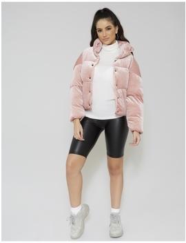 Pink Velvet Puffer Jacket by Public Desire