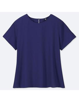 Women Drape Short Sleeve Blouse by Uniqlo