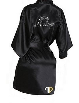 Personalised Rhinestone Diamante Robe   Create Your Own Rhinestone Satin Robe   Personalized Robe   Diamante Rhinestone by Etsy