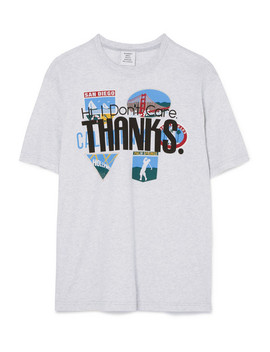 T Shirt Aus Baumwoll Jersey Mit Print by Vetements