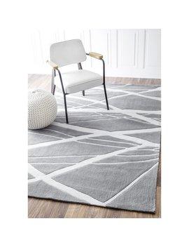 Nu Loom Handmade Pino Geometric Grey Modern Byways Rug (5' X 8') by Nuloom