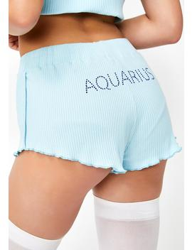 Aquarius Af Pj Shorts by Horoscopez