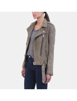 Ferea Bleached Grey Leather Biker Jacket by Iro Jeans