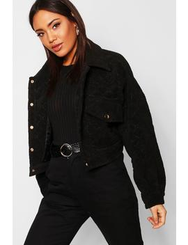 Quilted Trucker Jacket by Boohoo