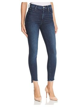 Stunner Step Hem Skinny Ankle Jeans In Disco Doll by Mother