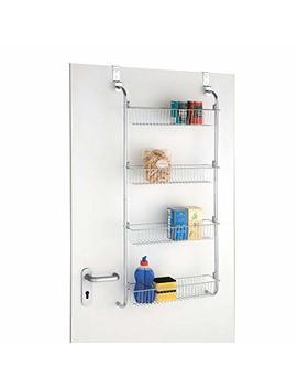 Taylor & Brown® 4 Tier Chrome Over Door Hanging Kitchen Bathroom Storage Rack Shelves by Taylor & Brown