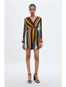 Striped Crossed Dress  New Intrf New Collection by Zara