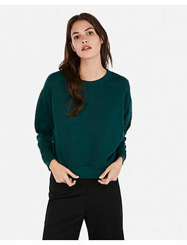 Express One Eleven Fleece Crew Neck Sweatshirt by Express