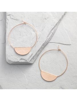 Rose Gold Disc Hoop Earrings by World Market