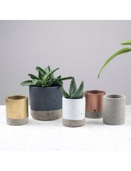 Concrete Plant Pot   Concrete Planter by Etsy