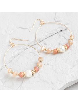 Gold Pearl Beaded Hoop Earrings by World Market