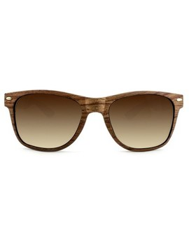 Men's Surf Shade Sunglasses With Wooden Textured Frame   Goodfellow & Co™ Brown by Goodfellow & Co