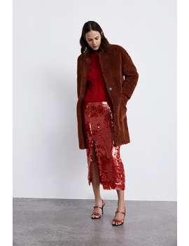 Double  Sided Faux Fur Coatcoats Woman Sale by Zara