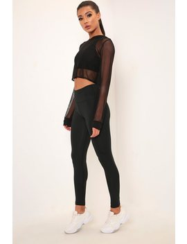 Black Basic Active Leggings by I Saw It First
