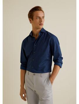Camisa Slim Fit Bolas by Mango