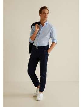 Camisa Slim Fit Mil Riscas by Mango