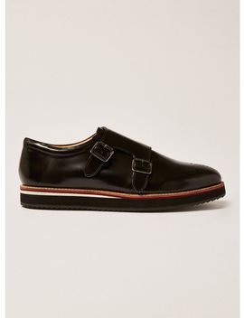 Black Prism Monk Shoes by Topman