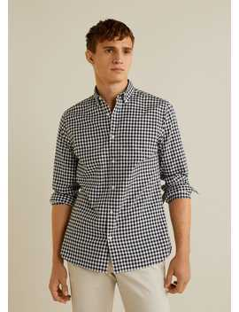 Camisa Slim Fit Quadrados Vichy by Mango