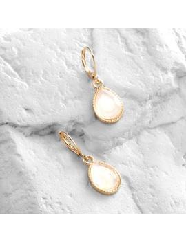White Opal  Drop Earrings by World Market