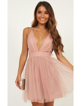 Give Me Luck Dress In Blush by Showpo Fashion