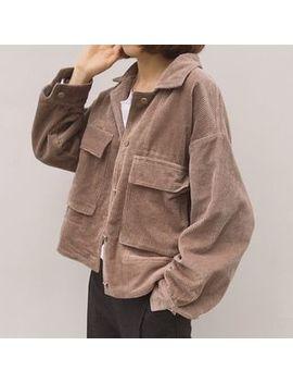 Hyaku   Corduroy Buttoned Jacket by Hyaku
