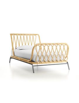 Rattan Kids Twin Bed by Crate&Barrel
